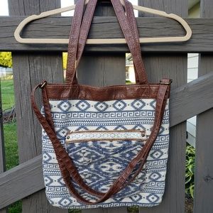 Maurice's Purse With Brown Straps Snap Closure